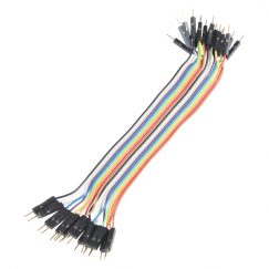 Jumper Wires - Male to Male, M/M, Connected, 6″ (150mm), (pack of 20)