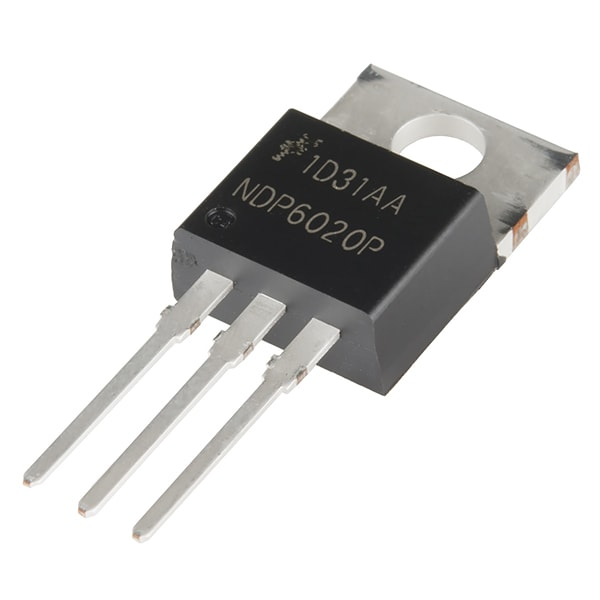 MOSFET, P-Channel, 20V, 24A, Low VGS, TO-220