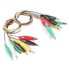 Alligator Wires Test Leads - Multicolored (Pack of 10)