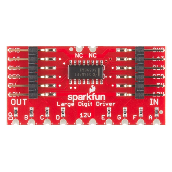 Large Digit Driver for 7-Segment Display top of board