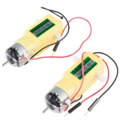 Hobby Gear Motor - 200 RPM (Pair)