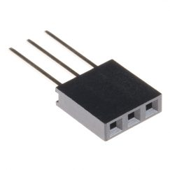 "Stackable Header - 3-Pin Female Socket, PTH, 2.54mm (0.1"")"