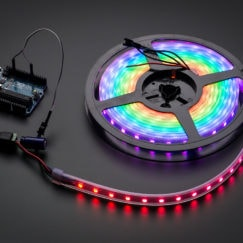 Digital RGB LED Weatherproof Strip 60 LED -1m-BLACK