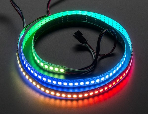 Lighting and Displays Digital RGB LED Strip 144 LED – 1m White – WHITE