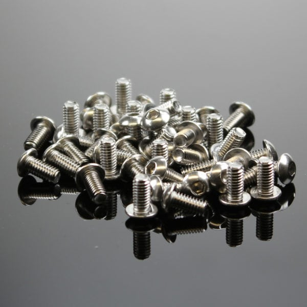Button Hex Machine Screw - M4 thread - 8mm long - pack of 50