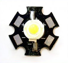3W White LED Star