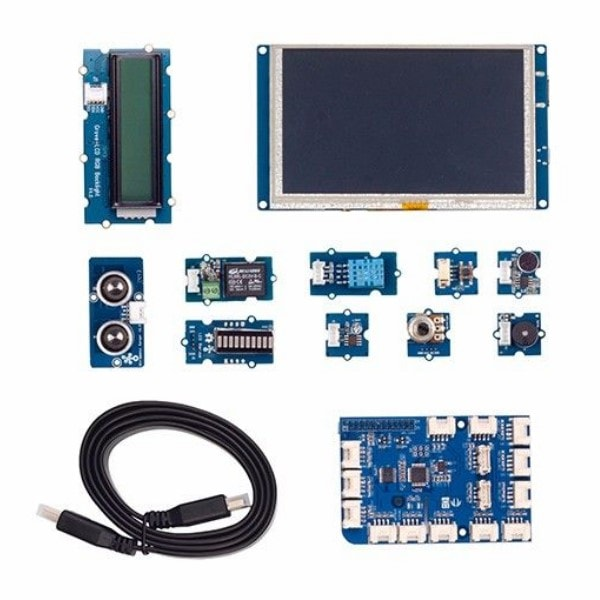 seeed studio grove starter IOT kit for Raspberry Pi components