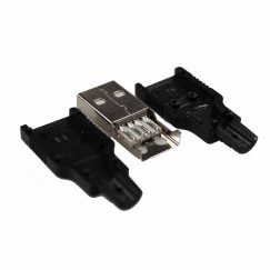 Cables and Leads USB DIY Connector Shell – Type A Male