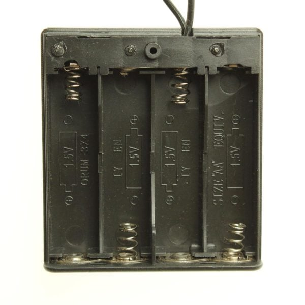 4 X AA Battery holder with on/off switch and 2.1mm Barrel jack