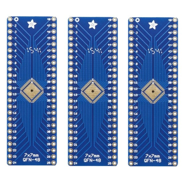SMT Breakout PCB for 48-QFN or 48-TQFP - 3 Pack!