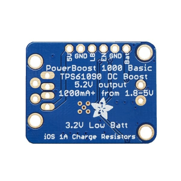 Adafruit 2030 PowerBoost 1000 Basic - 5V USB Boost @ 1000mA from 1.8V+
