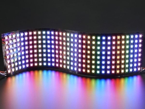 LED Displays 8×32 RGB LED Array Flexible WS2812B Matrix – (Adafruit NeoPixel compatible)