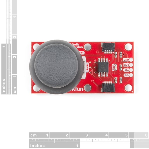 Joystick Breakout Board with Qwiic dimensions