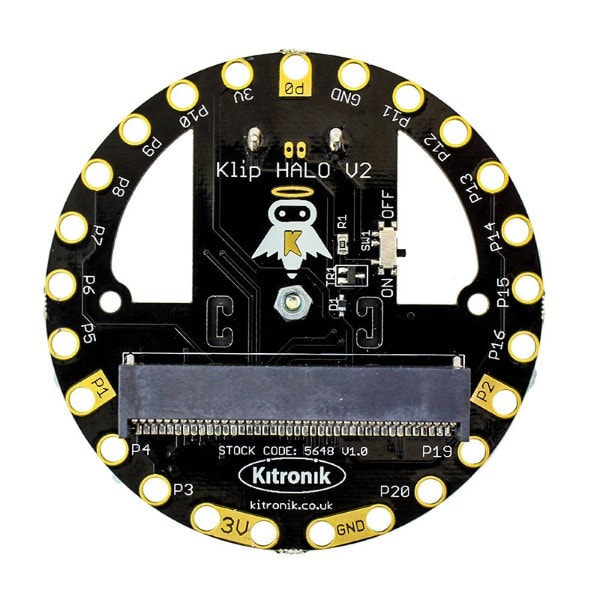 BBC Microbit Kitronik 5648-BAT Klip Halo V2.0 with 2x AA Battery Holder
