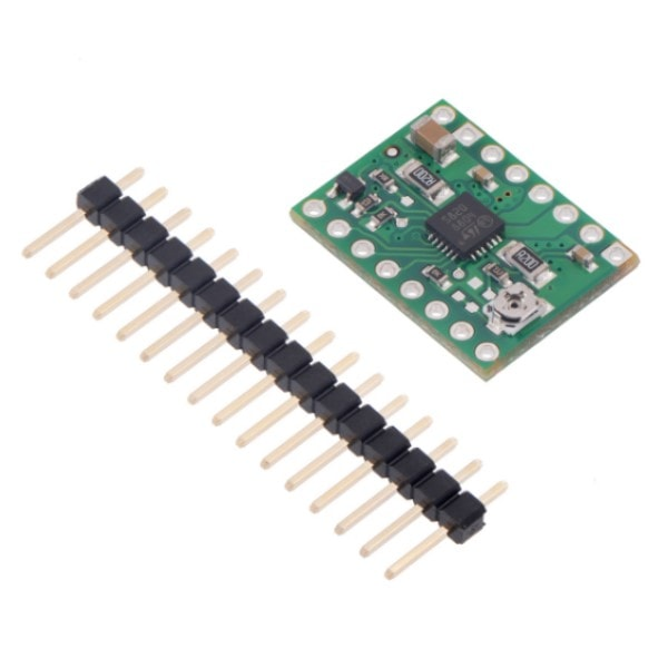 Stepper Motor Driver Carrier STSPIN820 with included header strips