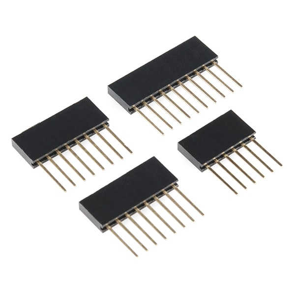 "Long Pin Female 0.1"" Arduino Stackable Headers"
