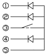 Rotary Encoder - Illuminated (RGB) Schematic Symbol