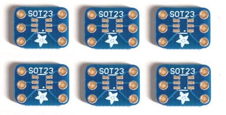 SMT Breakout PCB for SOT-89 or STO223 - 6 Pack