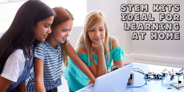 Proto-PIC Image showing 3 students learning electronics at home