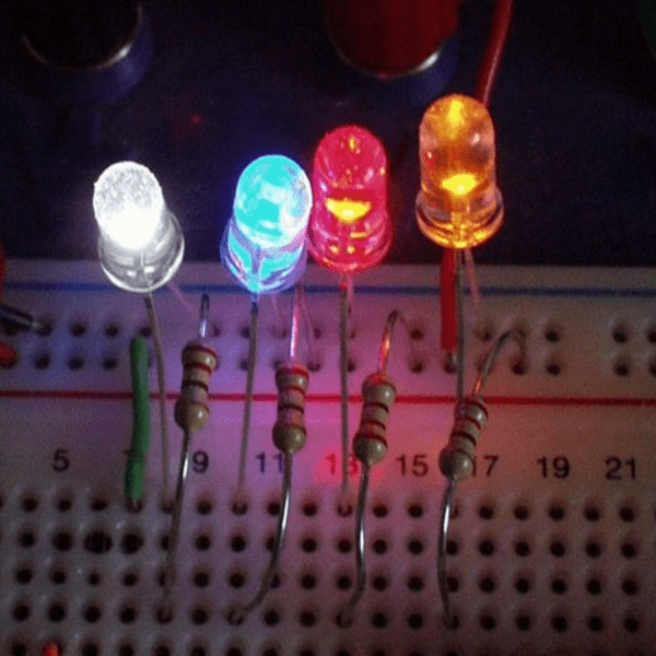 Super bright colored LEDs