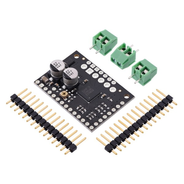 TB67S279FTG Stepper Motor Driver Carrier with included terminal blocks and male header strips