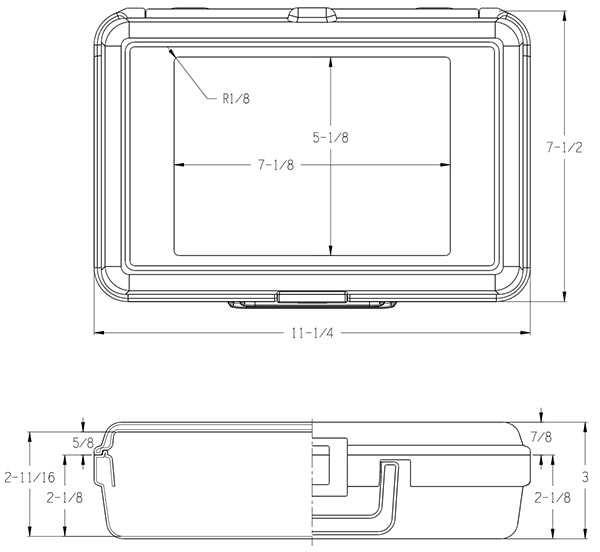Carrying Case Dimensions