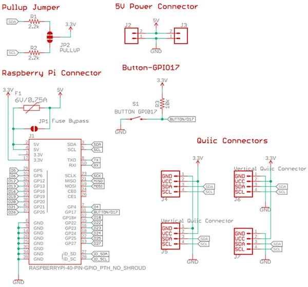 QWIIC pHAT Schematic Drawing