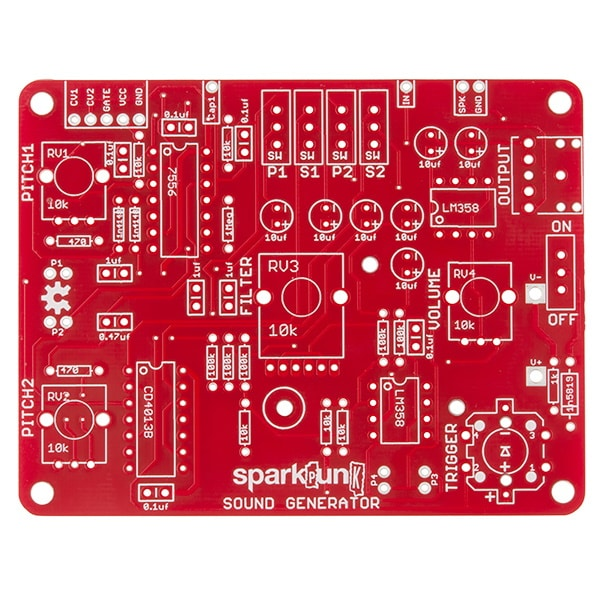KIT-11177 SparkPunk PCB view
