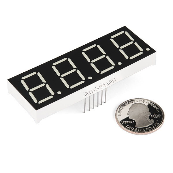 7-Segment Display - 20mm (White) size coin comparison