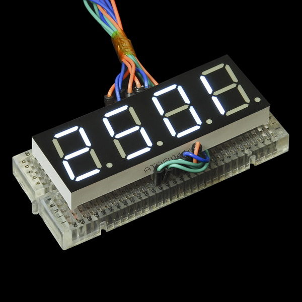 7-Segment Display - 20mm (White) on board