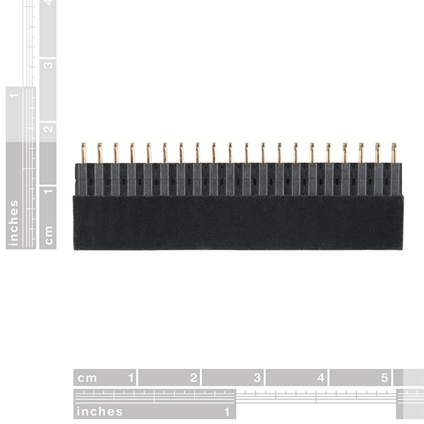 Raspberry Pi GPIO Tall Header - 2x20 size and dimensions