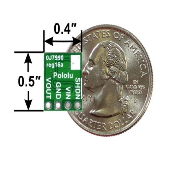 Pololu voltage regulator size comparison