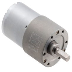 Metal Gearmotor 37D 12V helical pinion