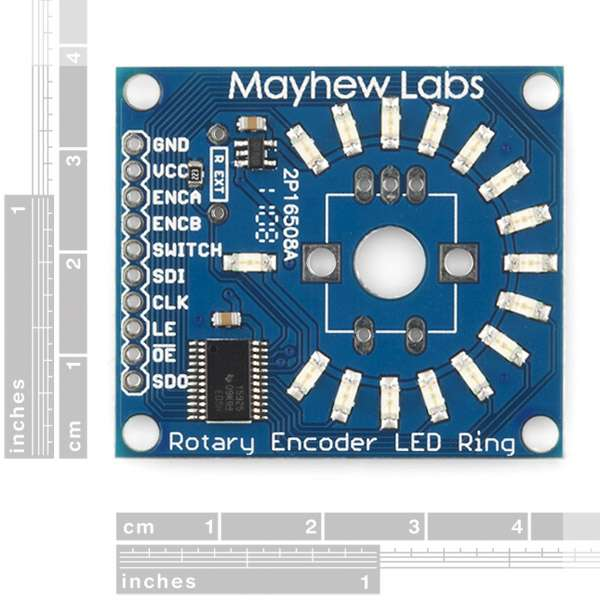 Rotary Encoder LED Ring Breakout Board - Coloured