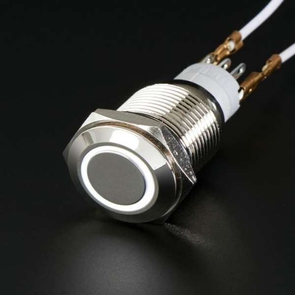 Waterproof Metal Pushbutton with Coloured LED Ring