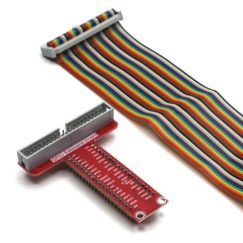 GPIO Expansion Board for Raspberry Pi w/ Ribbon cable