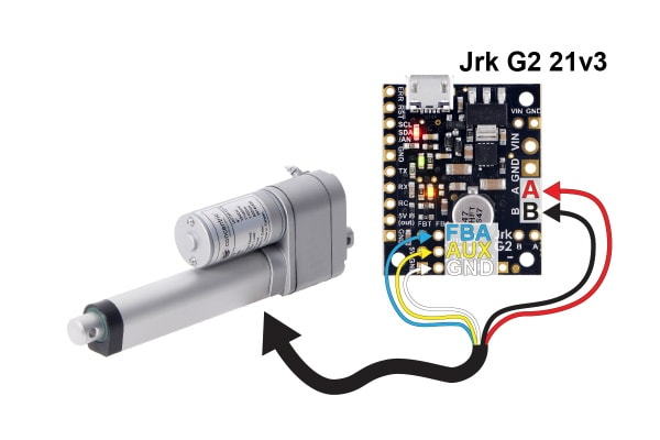 Linear Actuator with Feedback and 2″ Stroke (LACT12P) Connection