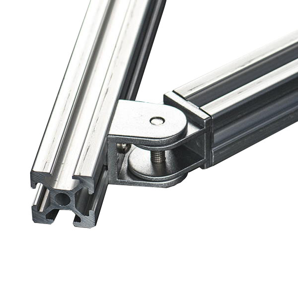 Adjustable Angle Support for 2020 Aluminum Extrusion side mounted