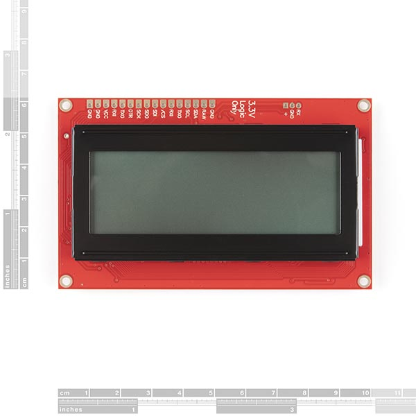 Sparkfun LCD-16398 SerLCD Front Product image