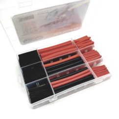 Pre-Cut Heat Shrink Pack Kit – 270 pcs in Red and Black