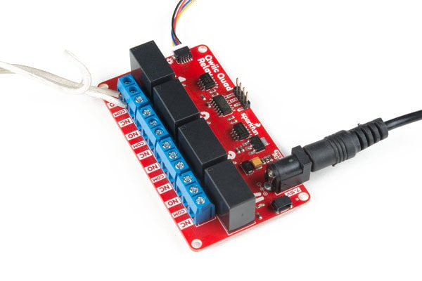 Connecting up the Quad Relay Board with Qwiic