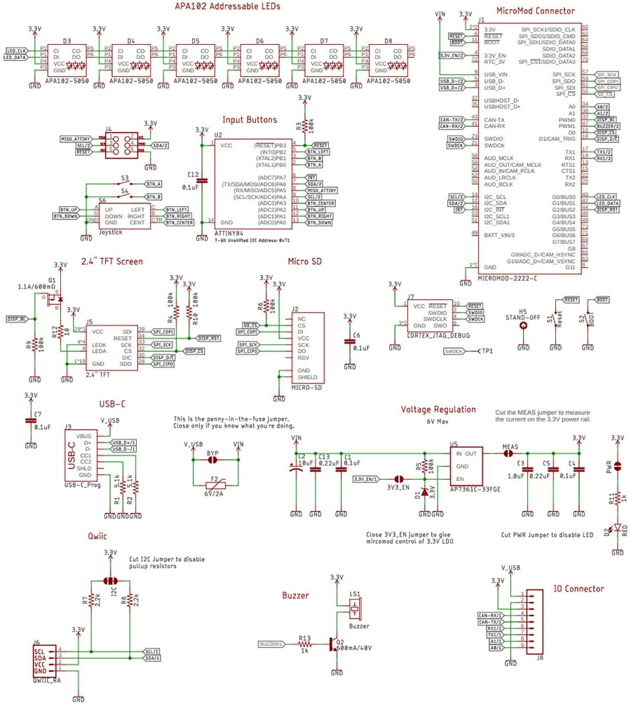 MicroMod Display Carrier Board Schematic