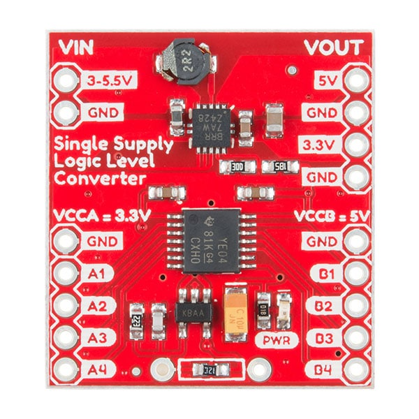 Logic Level Converter - Single Supply - Sparkfun PRT-14765 Top side