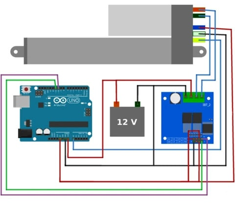 Linear Actuator connected to an Arduino Uno