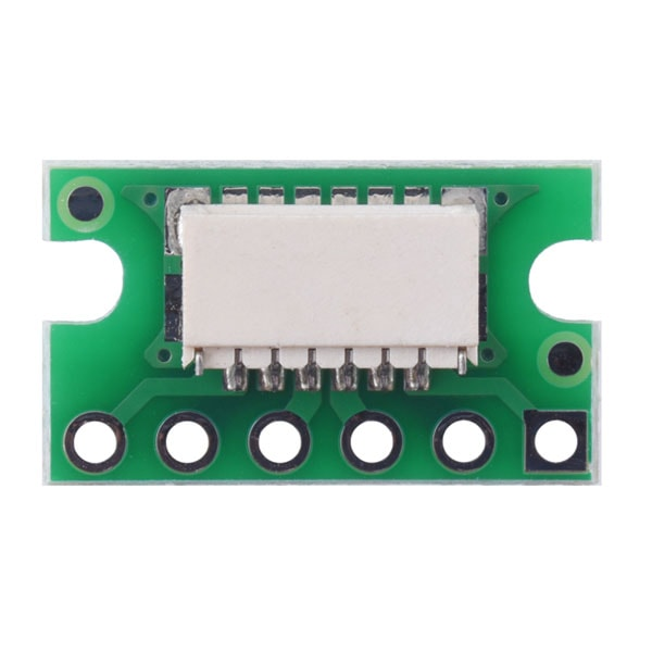 Breakout for JST SH-Style Connector, 6-Pin Male Side-Entry