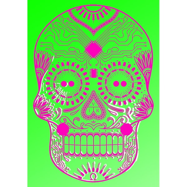 DotG Wall Art in Pink on Green - Limited edition 1 of 50
