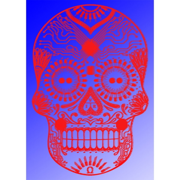 DotG Wall Art, Red on Blue, Limited Edition