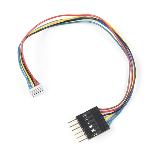 Breadboard to JST GHR-06V Cable, 6-Pin, 1.25mm Pitch (CAB-18079)