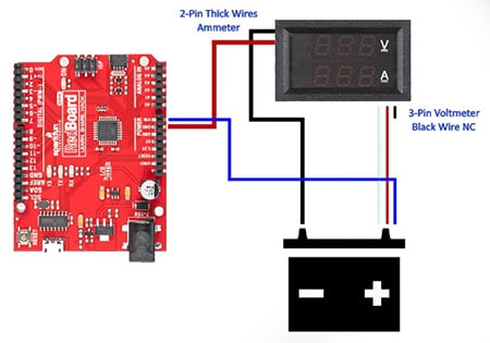 Connecting a Digital Voltmeter Ammeter to an Arduino