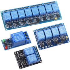 Relay Module With Optocoupler, 1/2/4/6/8 Channel, 5V DC